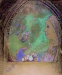 Tête de femme (Redon Odilon) - Muzeo.com