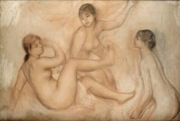 Trois Baigneuses au bord de l'eau (Renoir Auguste) - Muzeo.com