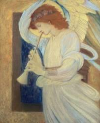 An Angel Playing a Flageolet (Burne-Jones Edward) - Muzeo.com