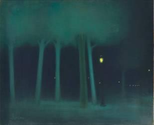 Un parc dans la nuit (Rippl-Ronaï Jozsef) - Muzeo.com