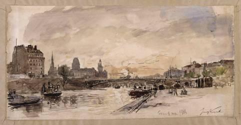 Vue de Paris, des quais (Jongkind Johan Barthold) - Muzeo.com