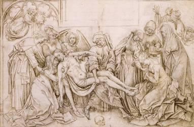 Le Christ porté au tombeau (Van der Weyden Rogier) - Muzeo.com