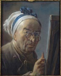 Autoportrait dit au chevalet (Chardin Jean Siméon) - Muzeo.com