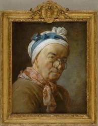 Autoportrait dit aux bésicles (Chardin Jean Siméon) - Muzeo.com