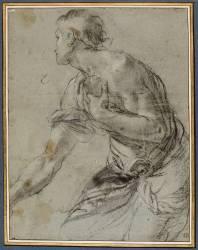 Berger à genoux (Carrache Agostino) - Muzeo.com