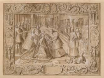 Couronnement de Catherine de Médicis dans la basilique Saint-Denis (Caron Antoine) - Muzeo.com