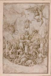 Damnés tourmentés par des diables et des animaux fantastiques (Brueghel Pieter, le Vieux...) - Muzeo.com