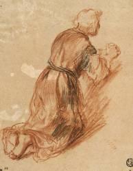 Etude d'un saint Jérôme à genoux, en prière (Rembrandt Harmensz van Rijn) - Muzeo.com