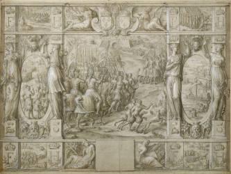 Marche triomphale de François Ier contre Charles Quint (Caron Antoine) - Muzeo.com