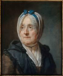 Portrait de Françoise-Marguerite Pouget (1707-1791), madame Chardin (Chardin Jean Baptiste Siméon) - Muzeo.com