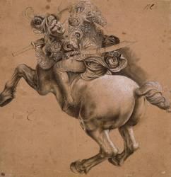 Cavalier, étude d'après la Bataille d'Anghiari (Leonardo da Vinci) - Muzeo.com