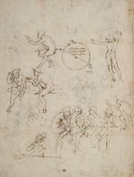 Etudes de figures, études pour la Cène, et projet d'hygromètre (De Vinci Léonard) - Muzeo.com