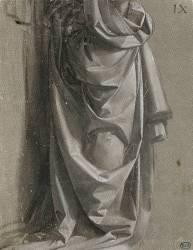 Figure debout, drapée, vue de profil à droite (De Vinci Léonard) - Muzeo.com