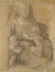 La Vierge, l'Enfant et saint Jean (De Vinci Léonard) - Muzeo.com