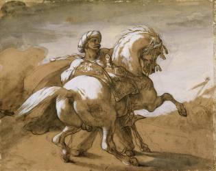Mameluck retaining his horse (Géricault Théodore) - Muzeo.com