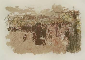 Avenue in the Bois de Boulogne (Pierre Bonnard) - Muzeo.com