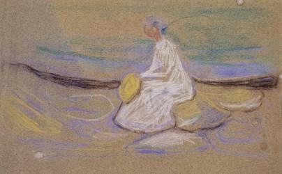 Girl on the beach (Munch Edvard) - Muzeo.com