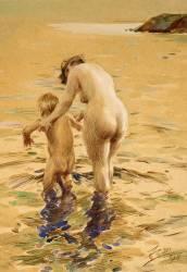 Her First Dip (Anders Leonard Zorn) - Muzeo.com
