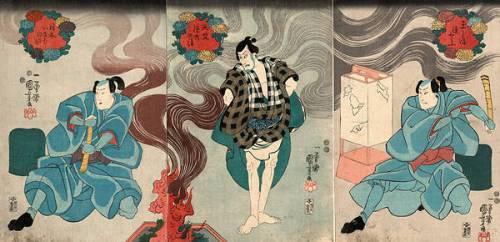 Actors in the Roles of Tamashima Itto Kuniyoshi (Utagawa Kuniyoshi) - Muzeo.com