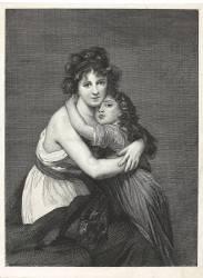 Elisabeth Vigée-Lebrun et sa fille d'après Elisabeth Vigée-Lebrun (Leroy Alphonse-Alexandre) - Muzeo.com