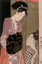 The mosquito net (Kitagawa Utamaro) - Muzeo.com