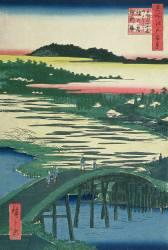 Sugatami Bridge (Hiroshige) - Muzeo.com