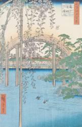 The Bridge with Wisteria or Kameido Tenjin Keidai (Hiroshige) - Muzeo.com