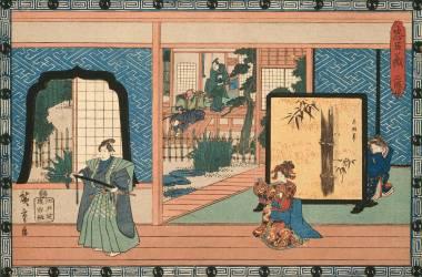 Drama of Tageda Izumo (Hiroshige) - Muzeo.com