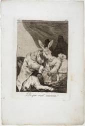 Les Caprices de Goya. Planche 40 :