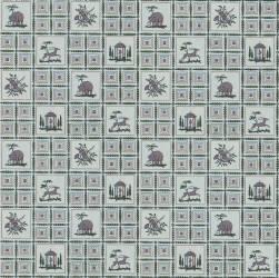 Motif répétitif de petits carreaux (anonyme) - Muzeo.com