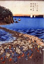 Opening celebration of Benzaiten Shrine at Enoshima in Soshu (Hiroshige) - Muzeo.com