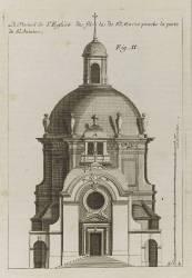Planche 254 (2) : élévation du portrail de l'église de la Visitation Sainte-Marie bâtie par (Blondel Jacques-François) - Muzeo.com