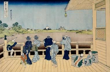 Fugaku sanjurokkei. Gohyaku Rakan-ji Sazai-do (Hokusai) - Muzeo.com