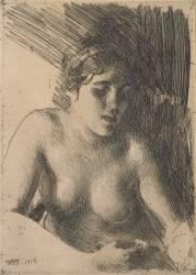 Bust of Nude Woman (Anders Leonard Zorn) - Muzeo.com