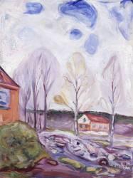 Fruhjahr Asgarstrand (Munch Edvard) - Muzeo.com