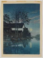 Lake in Moonlight, 1930 (Kawase Hasui) - Muzeo.com