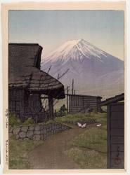 Mount Fuji in Funatsu, 1936 (Kawase Hasui) - Muzeo.com