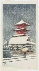 Toshogu in Ueno, July 1929 (Kawase Hasui) - Muzeo.com