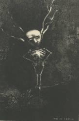 Dans le dédale des branches la blême figure apparaissait (Redon Odilon) - Muzeo.com