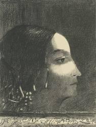 Dramatique et grandiose avec sa figure de prétresse druidique (Redon Odilon) - Muzeo.com