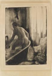 Femme debout dans une baignoire (Degas Edgar) - Muzeo.com