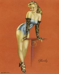 Glovely, la belle gantée, pin-up (anonyme) - Muzeo.com