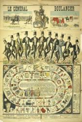 Le général Boulanger. Règle du jeu de l'oie du général (anonyme) - Muzeo.com