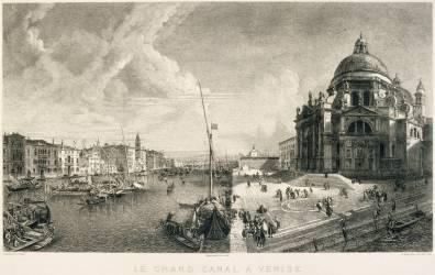 Le grand canal à Venise (Manesse Henri) - Muzeo.com