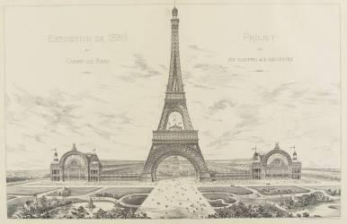 Projet pour l'Exposition Universelle de 1889 (Gustave Eiffel) - Muzeo.com