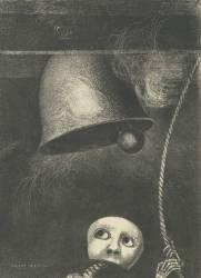 Un masque sonne le Glas funèbre (Redon Odilon) - Muzeo.com