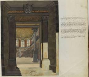 Album Robit : le château de Fontainebleau, bibliothèque établie dans l'ancienne chapelle Saint-Satur (anonyme) - Muzeo.com