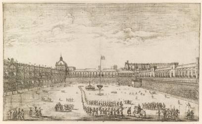 Cour du Palais Royal de Lisbonne (Stoop Dirk) - Muzeo.com