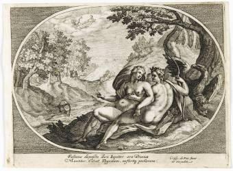 Diane et Jupiter sous le regard de Junon (Van de Passe de Oude Crispin...) - Muzeo.com