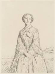 Gravure en facsimilé :Portrait de la princesse Marie Cantacuzene (Chasseriau Théodore) - Muzeo.com